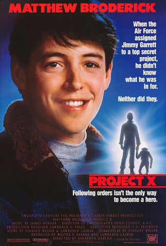 An original movie poster for the film Project X by John Alvin