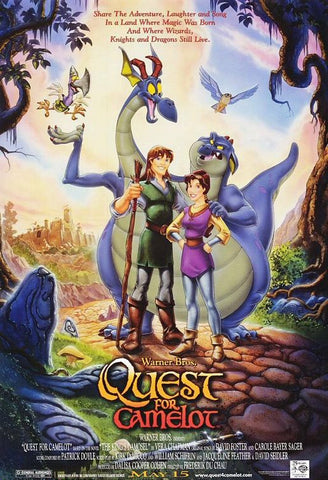 An original movie poster for the film Quest For Camelot by John Alvin