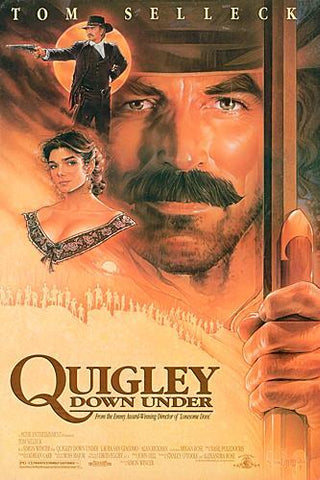 The movie poster for the film Quigley Down Under