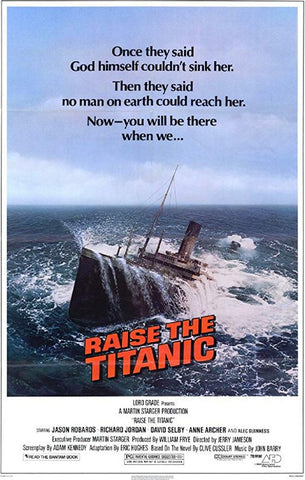 An original movie poster for the film Raise the Titanic