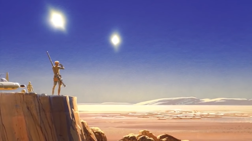 Ralph McQuarrie concept art for the movie Star Wars