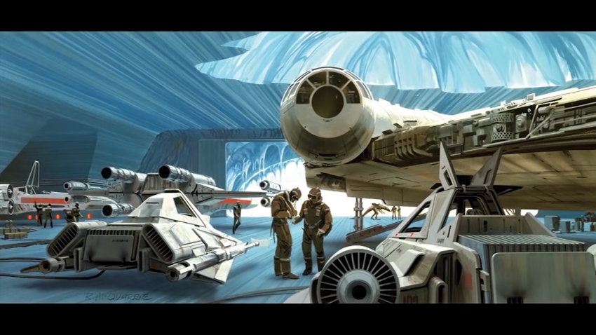 Ralph McQuarrie artwork for The Empire Strikes Back