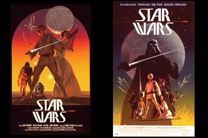 Ralph McQuarrie concept art for a movie poster for Star Wars