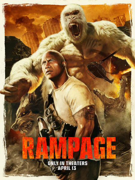 Richard Davies movie poster for the film Rampage