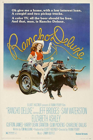An original movie poster for Rancho Deluxe by John Alvin