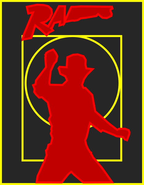Richard Amsel's 1982 poster for Raiders of the Lost Ark - simplified
