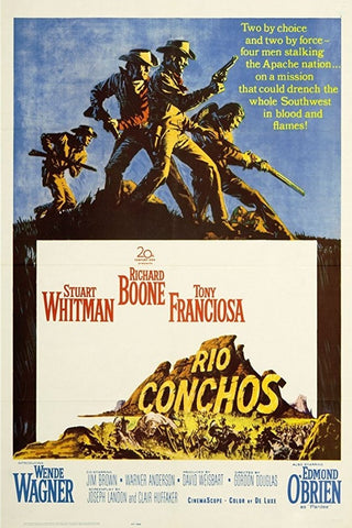 A movie poster by Frank McCarthy for the film Rio Conchos
