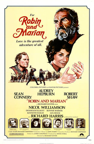 An original movie poster for the film Robin and Marian