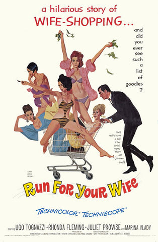 An original movie poster for the film Run For Your Wife