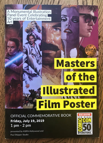 The limited edition booklet for the San Diego Comic Con panel Masters of the Illustrated Film Poster