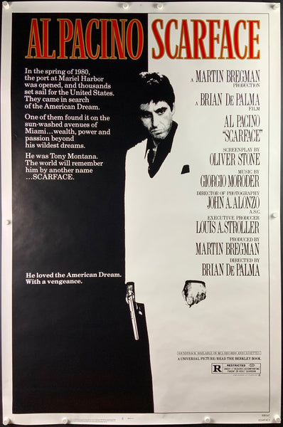 A movie poster for the film Scarface