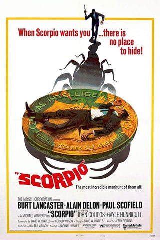 An original movie poster for the film Scorpio