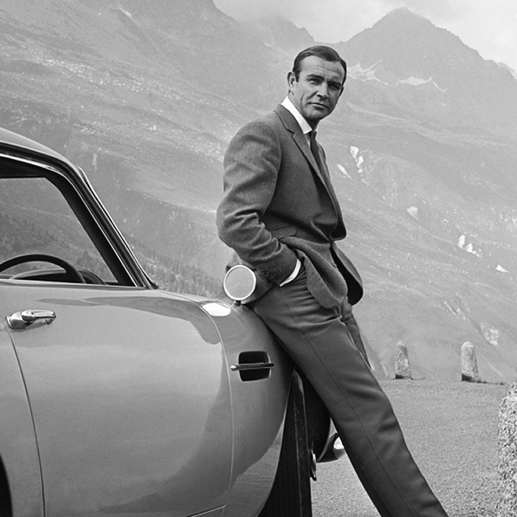 Sean Connery as James Bond complete with Aston Martin DB5