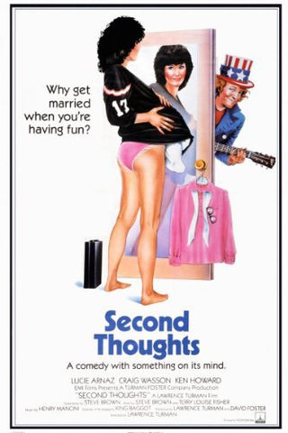 An original movie poster for the film Second Thoughts