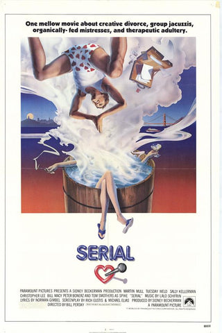 An original movie poster for the film Serial by John Alvin