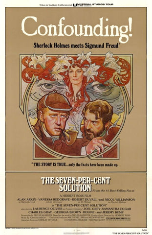A movie poster for the film The Seven-Per-Cent Solution