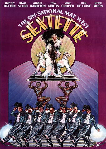 An original movie poster for the film Sextette