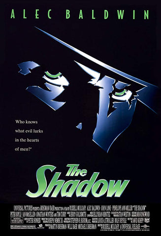 An original movie poster for the film The Shadow by John Alvin