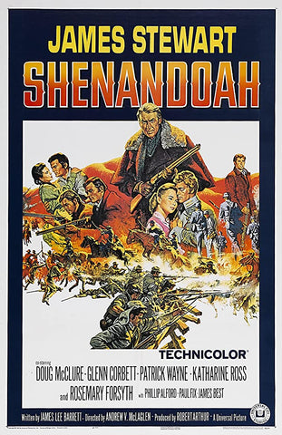 A movie poster by Frank McCarthy for the film Shenandoah