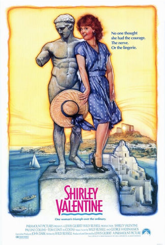 An original movie poster for the film Shirley Valentine