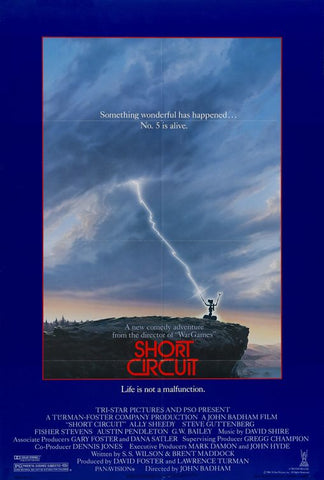 An original movie poster for the film Short Circuit by John Alvin