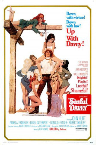 An original movie poster for the film Sinful Davey