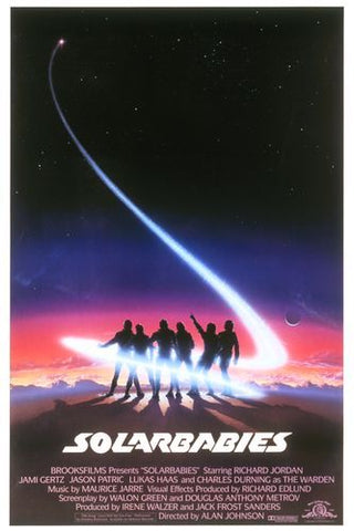An original movie poster for the film Solarbabies by John Alvin
