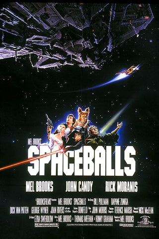 An original movie poster for the film Space Balls by John Alvin