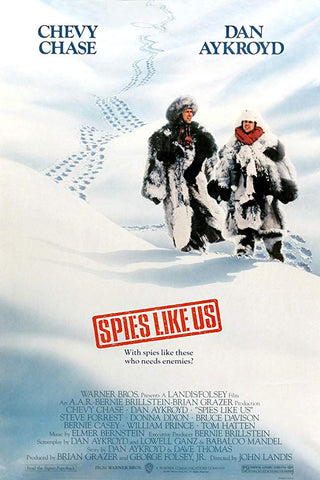 An original movie poster for the film Spies Like Us by John Alvin
