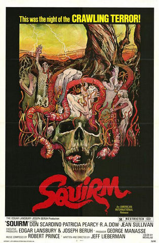 An original movie poster for the film Squirm