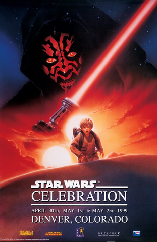 An original poster for Star Wars Celebration by John Alvin