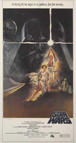 An original movie poster for the film Star Wars