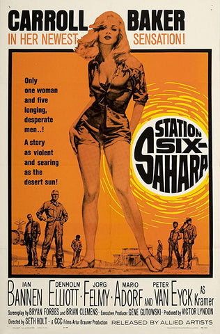 A movie poster by Frank McCarthy for the film Station Six Sahara