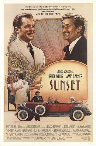 An original movie poster for the film Sunset