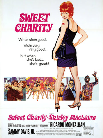An original movie poster for the film Sweet Charity