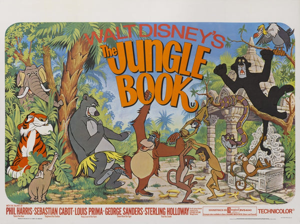 A UK Quad Movie Poster for the Film The Jungle Book
