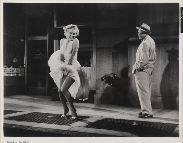 An original movie still from the film The Seven Year Itch