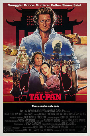 An original movie poster for the film Tai-Pan by John Alvin