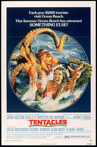 A movie poster for the film Tentacles
