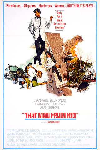 A movie poster by Frank McCarthy for the film That Man From Rio