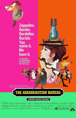 An original movie poster for the film The Assassination Bureau