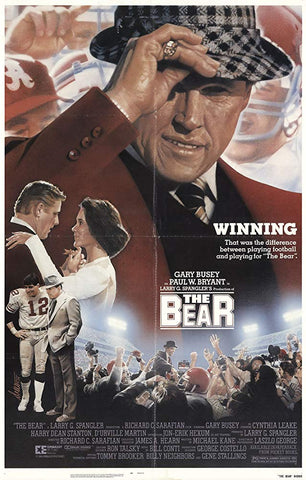 An original movie poster for the film The Bear