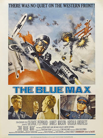 A movie poster by Frank McCarthy for the film The Blue Max