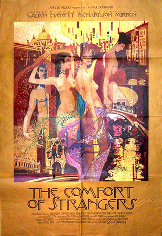 An original movie poster for the film The Comfort of Strangers