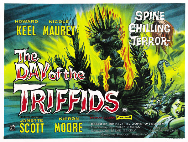 A UK Quad Movie Poster for the film The Day of the Triffids