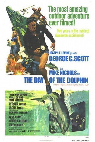 An original movie poster for the film The Day Of The Dolphin