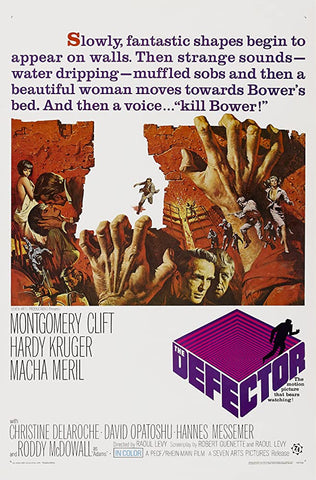 A movie poster by Frank McCarthy for the film The Defector