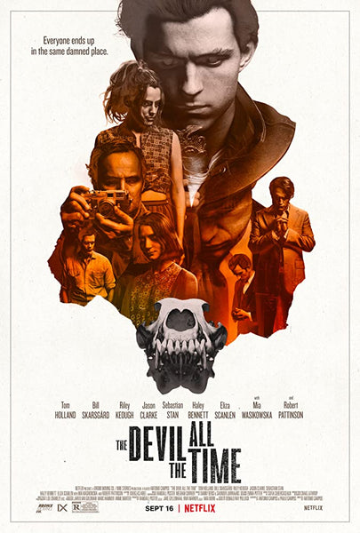 An original movie poster for the film The Devil All The Time