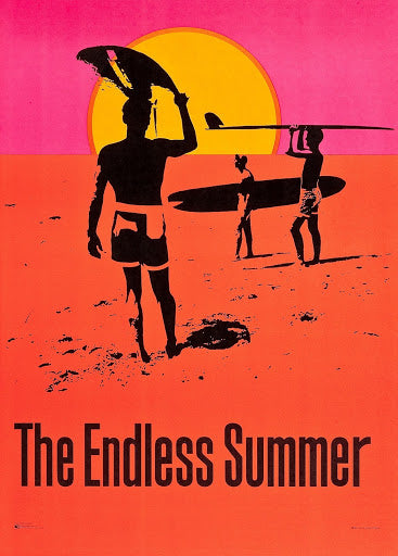 An original movie poster for the surfing film The Endless Summer