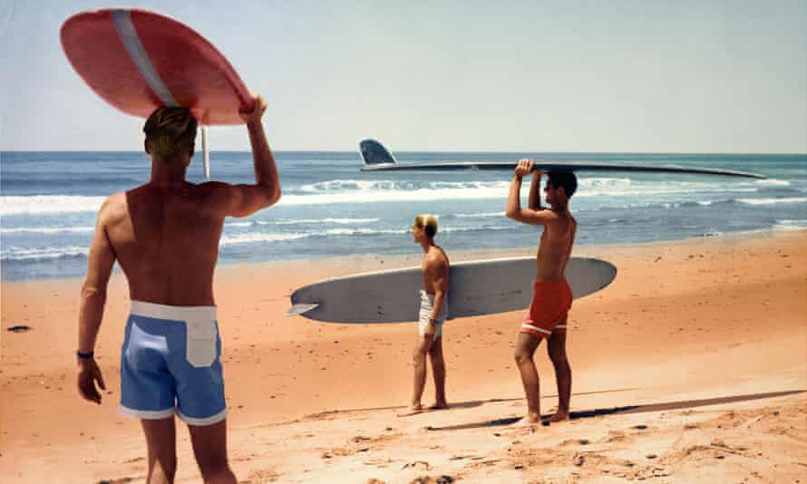 An iconic image from the film The Endless Summer